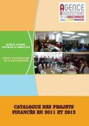 catalogue projets - AUF