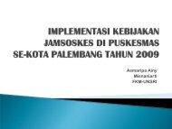 Dasar pelaksanaan Jamsoskes - Kebijakan Kesehatan Indonesia