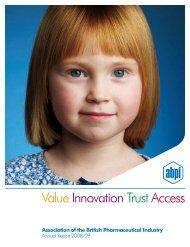 AnnualReport08 - Association of the British Pharmaceutical Industry