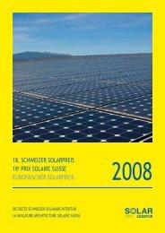 euroPäiScher SolarPreiS 18e Prix Solaire SuiSSe 18. Schweizer ...