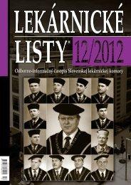 LekárnIcké LISty® 12/2012 - Slovenská lekárnická komora