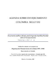 Agenda sobre envejecimiento – Colombia siglo XXI - Facultad de ...