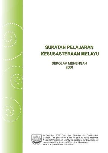 sukatan pelajaran kesusasteraan melayu - Ministry of Education
