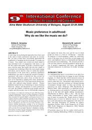 Music preference in adulthood: Why do we like ... - Prof. Marco Costa