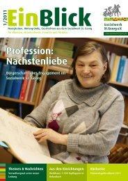 EinBlick 1/2011 - Sozialwerk St. Georg