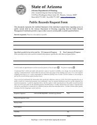 Public Records Request Form - Arizona Department of Housing
