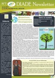 DIADE Newsletter - umr diade