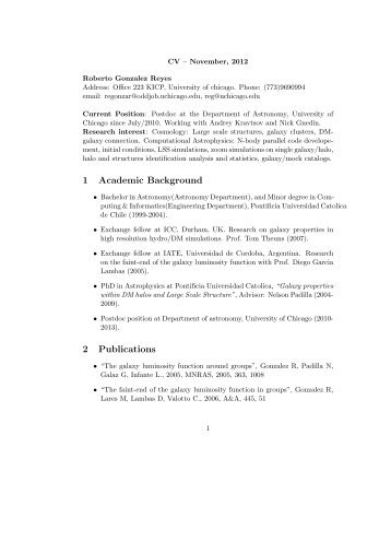CV & Publication list (Pdf format) - The Department of Astronomy ...