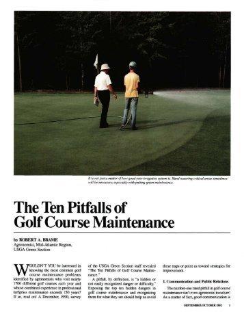 The Ten Pitfalls of Golf Course Maintenance - USGA Green Section ...