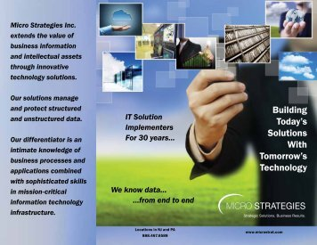 Building Today's Solutions With Tomorrow's Technology - Micro ...