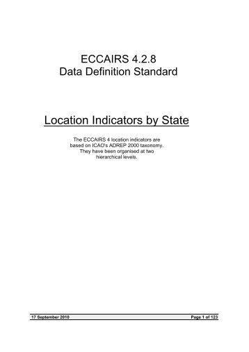 Location Indicators by State - SKYbrary