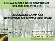 BRAZILIAN LAND TAX DECENTRALIZATION: a case study