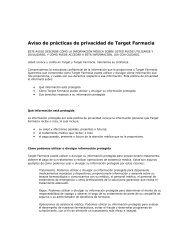 Aviso sobre la Política de privacidad de Target Pharmacy®
