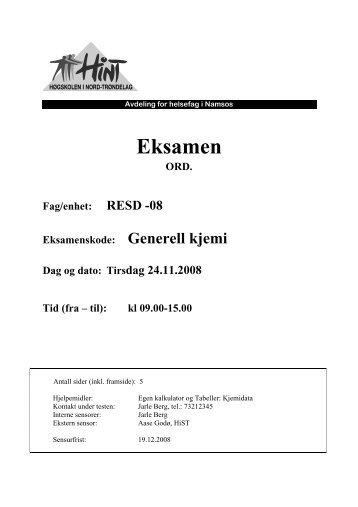 RESD 08 - Generell kjemi - 24112008