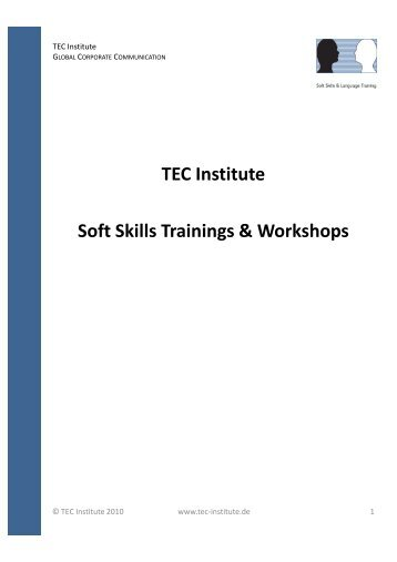 TEC Soft Skills Workshops & Trainings deutsch - TEC  Institute