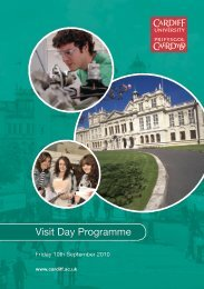 Visit Day Programme - Cardiff School of Physics and Astronomy ...