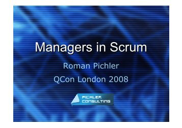 Managers in Scrum - QCon London