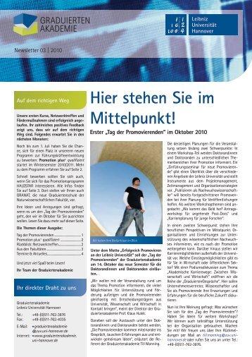 Newsletter 03 | 2010 - Graduiertenakademie - Leibniz Universität ...