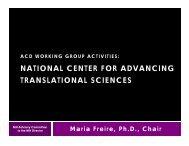 National Center for Advancing Translational Sciences - Advisory ...