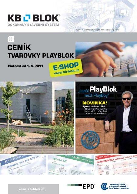 CENÍK tvarovky PlayBlok - KB - BLOK systém, sro
