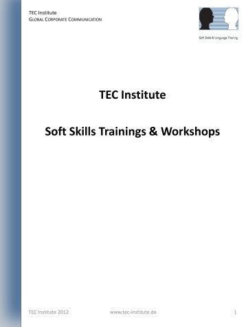 TEC Institute Soft Skills Trainings & Workshops