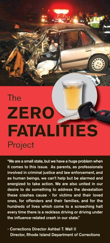 ZERO FATALITIES - Rhode Island Department of Corrections - RI.gov