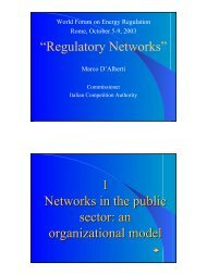Regulatory Networks - International Energy Regulation Network
