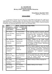 No. 12(5) - Ministry of Micro, Small and Medium Enterprises