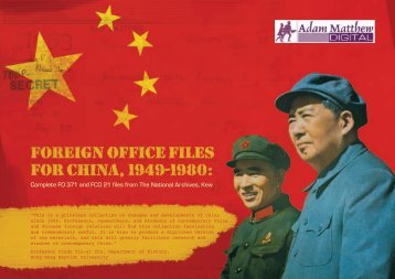 Foreign Office Files for China, 1949-1980 - Licosa