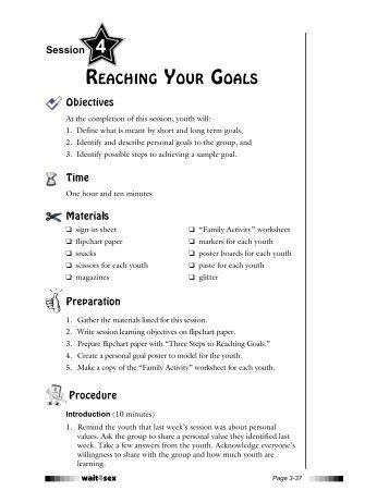 Session 4 on Goal Setting