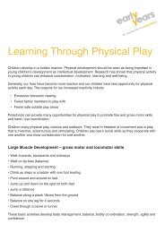 Learning Through Physical Play - Early Years