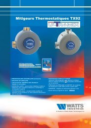 Mitigeurs Thermostatiques TX92 - Watts Industries
