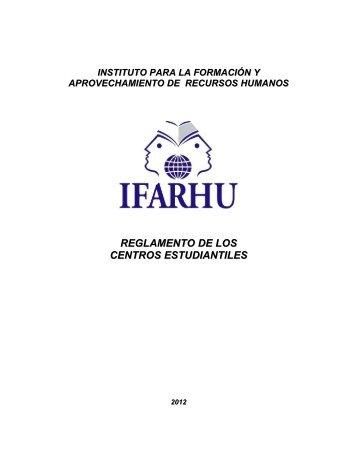 reglamento de los centros estudiantiles - IFARHU