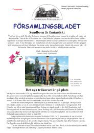 FÖRSAMLINGSBLADET - Sundborns församling