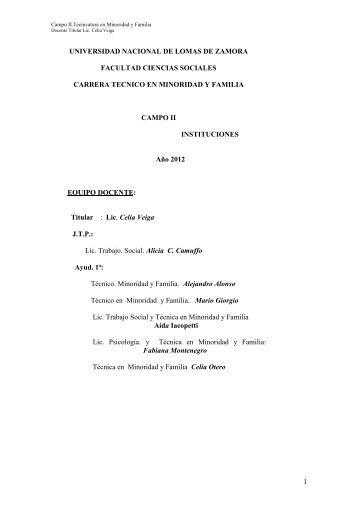 Campo II - Facultad de Ciencias Sociales
