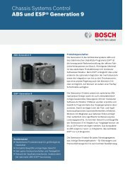 ABS und ESP® Generation 9 - Bosch Automotive Technology