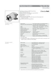 Absolute Encoders Type RA 58-P DeviceNet - Iberica de ...