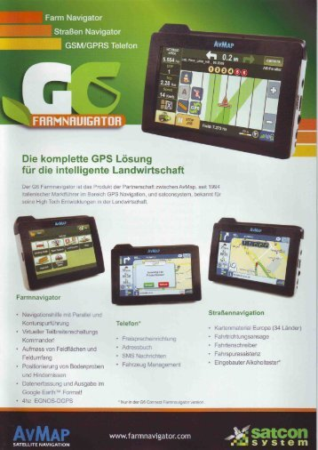 Prospekt Farmnavigator - Spezielle-Agrar-Systeme GmbH