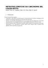 METASTASI EPATICHE DA CARCINOMA DEL COLON-RETTO