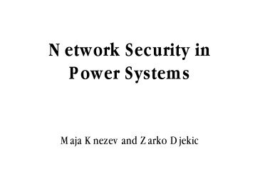 Network Security in Power Systems - Electrical & Computer ...