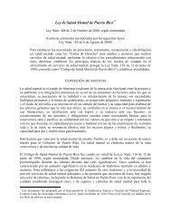 Ley de Salud Mental de Puerto Rico - Rama Judicial de Puerto Rico