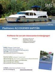 Flashnews ALS EIGENER KAPITÄN - Atelier du Voyage