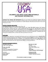 celebrity usa west coast mini nationals - ms pageant information
