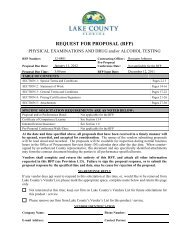 Request For Proposal - Lake County