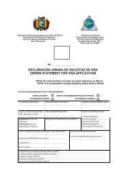 declaración jurada de solicitud de visa sworn statement ... - VIA Travel