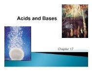 Chapter 17 - Acid-Base Equilibrium