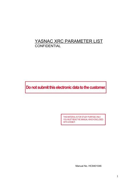 Yasnac Xrc Manual