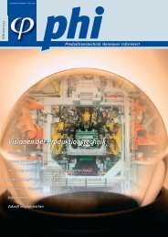 phi Ausgabe 1/2005: Visionen der Produktionstechnik