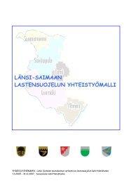 LÄNSI-SAIMAAN LASTENSUOJELUN YHTEISTYÖMALLI - Socom