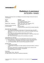 Radiateurs à panneaux INTEGRA+ RAMO
